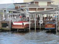Nice old boats are part of the ambiance at the Boathouse restaurant.